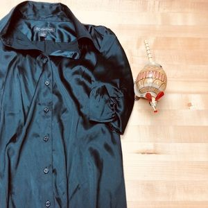 INC Short Sleeve Silk Shirt